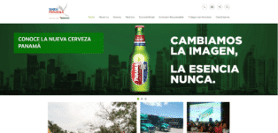 Panama web design - Cervecería Panamá SA