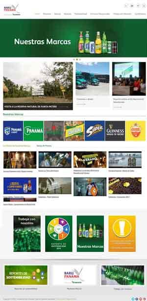 Diseño web - Cervecería Barú Panamá